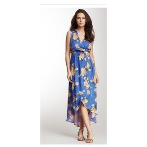 Romeo & Juliet Couture Blue Yellow Floral Dress